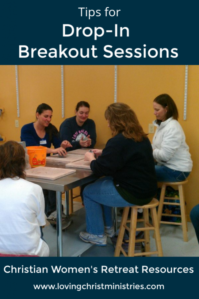 image of women around a table with a craft with title text overlay