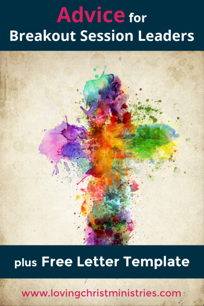 image of multicolor cross with title text overlay - Advice for Breakout Session Leaders
