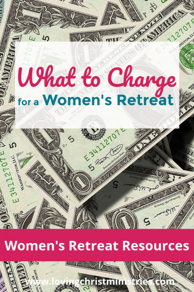 image of money with title text overlay - What to Charge for a Women's Retreat