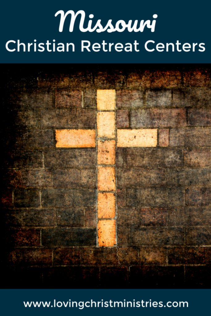 Image of cross on brick background with title text overlay - Missouri Christian Retreat Centers