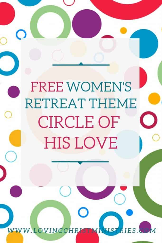 image of colorful circles on white background with title text overlay - Circle of His Love