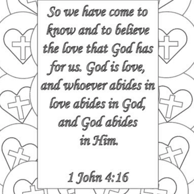 Circle of His Love Coloring Page FREE