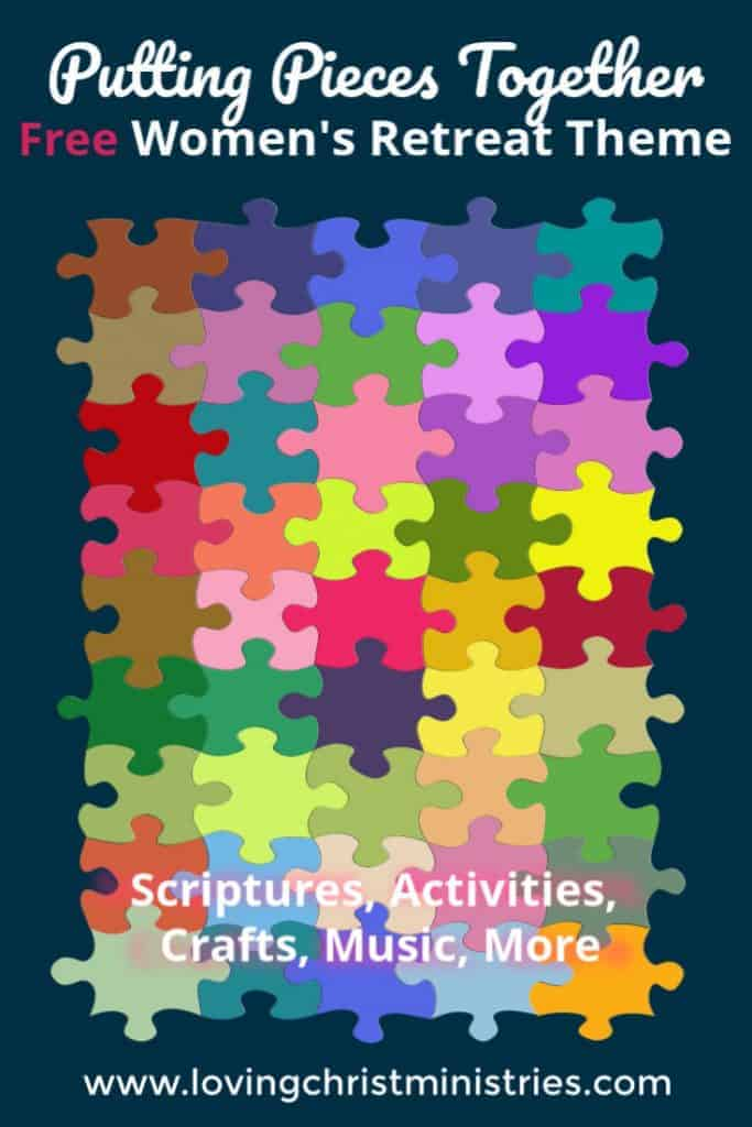 image of colorful puzzle pieces with title text overlay - Putting Pieces Together