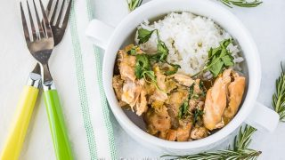 Crockpot Chicken Thighs with Green Chiles