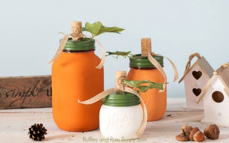 DIY Pumpkin Mason Jar Craft for Fall Decor and Gifts