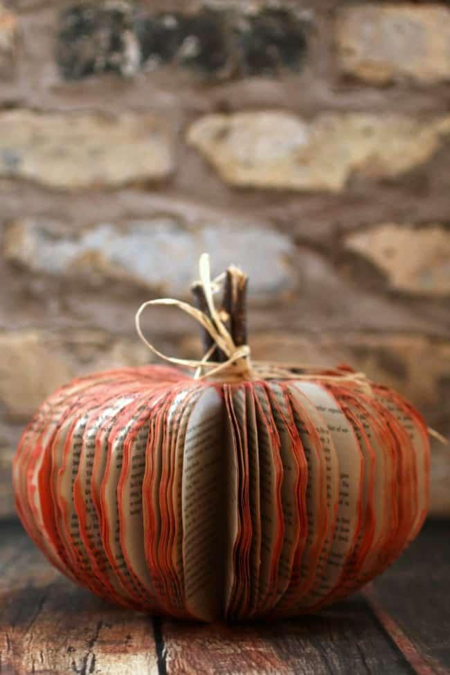 Make a Book Pumpkin - Frugal Fall Craft