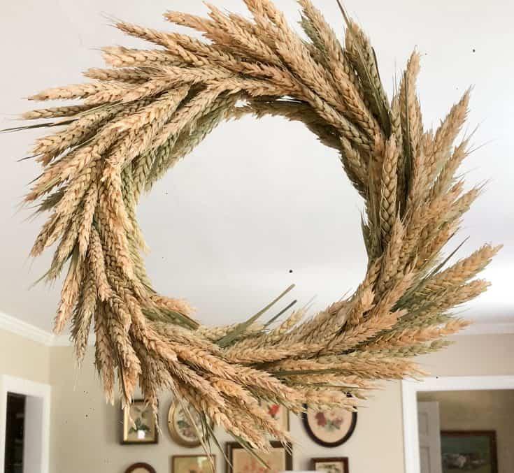 DIY Wheat Wreath for Fall
