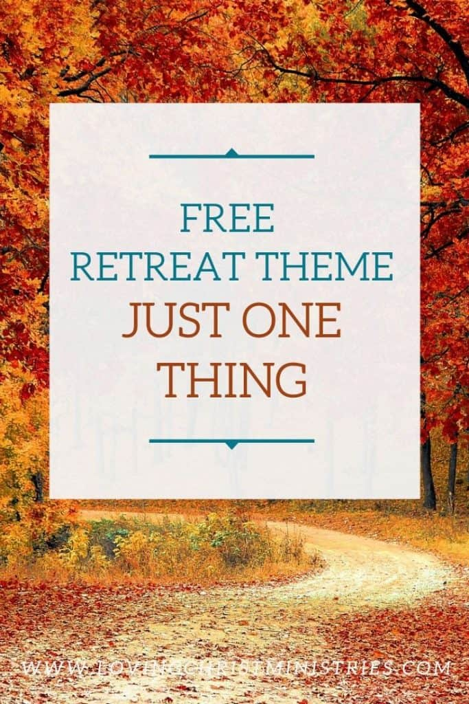 image of trees with autumn leaves with title text overlay - Just One Thing