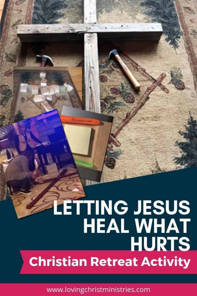 wooden cross with title text overlay - Post-It & Brown Bag Activity for Christian Women