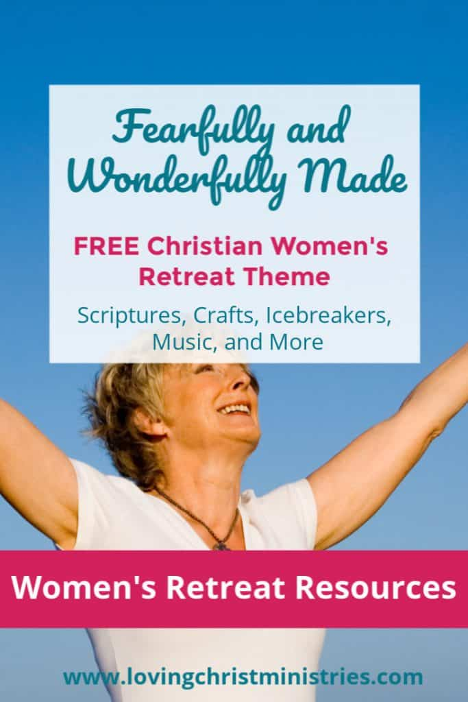 image of woman with outstretched arms with title text overlay - Fearfully and Wonderfully Made