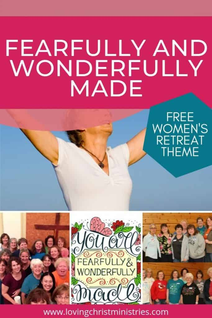 images of Christian women with title text overlay - Fearfully and Wonderfully Made