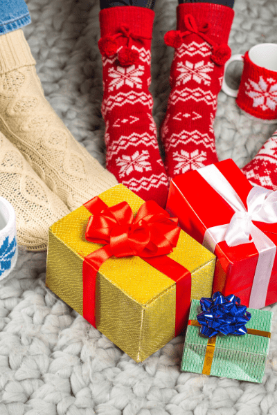 image of Christmas gifts and Christmas socks
