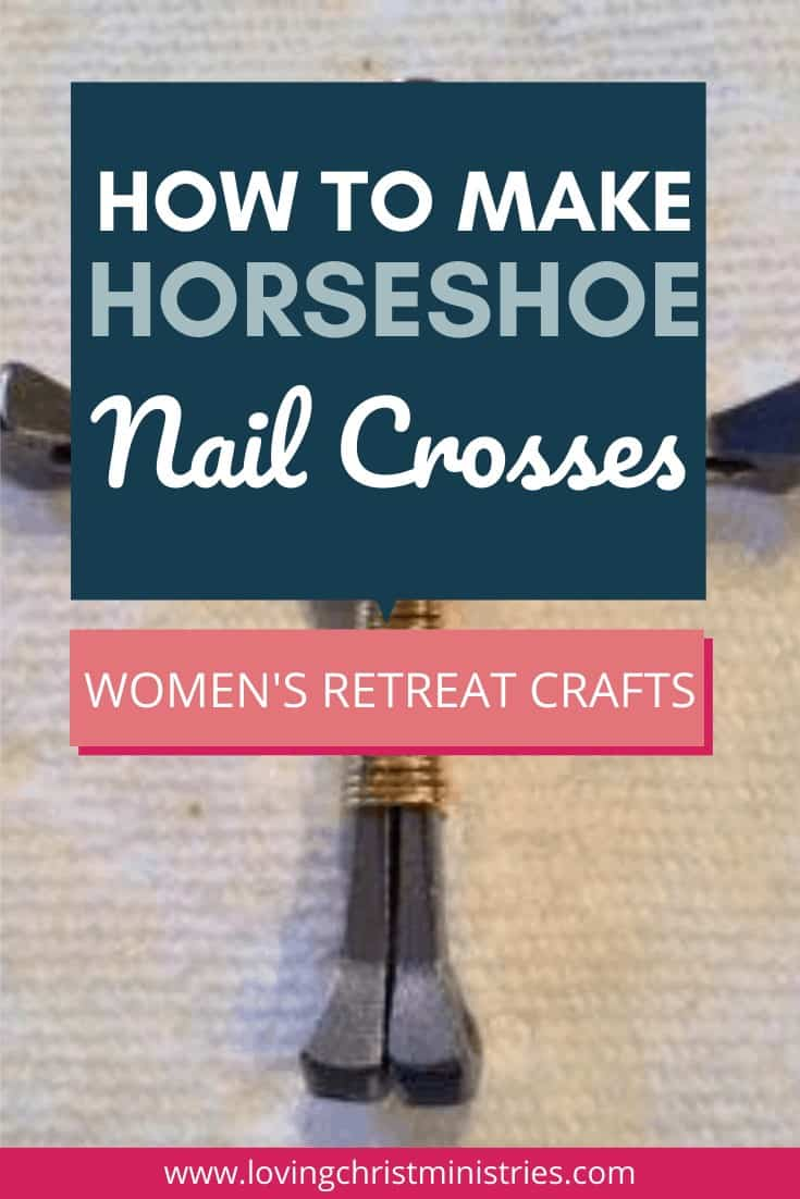 image of a horseshoe nail cross with title text overlay
