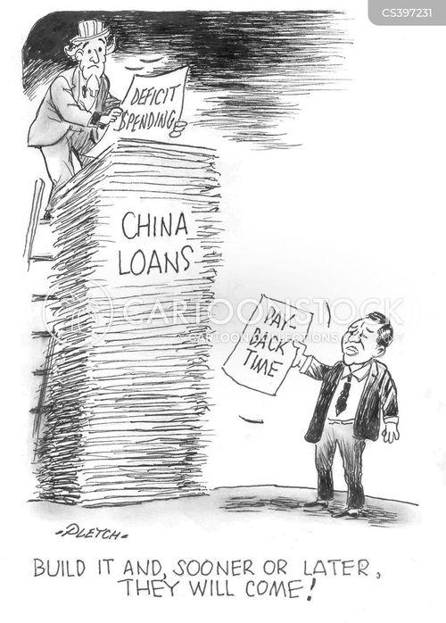 deficit spending news and political cartoons
