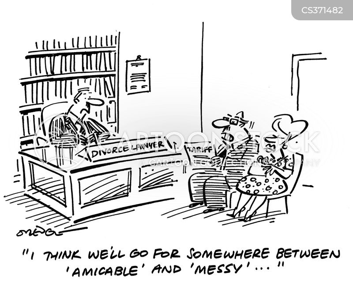 amicable divorce cartoon