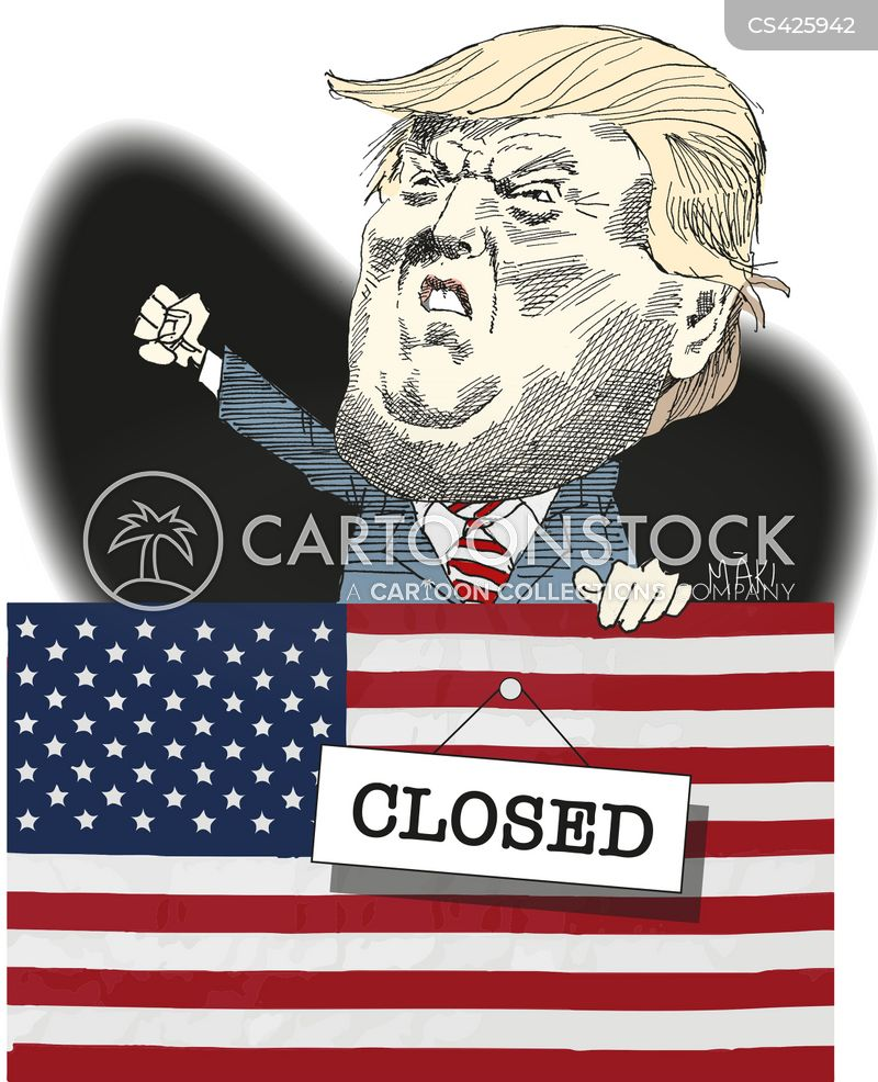 Image result for trump government shutdown cartoon