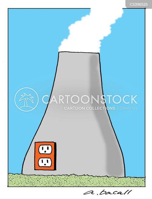 Cartoon Nuclear Power Plant