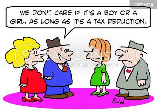 tax purposes cartoon