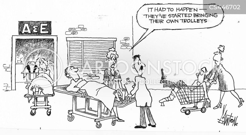 Image result for nhs trolley cartoon