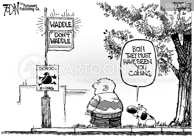 Obese Kids News and Political Cartoons