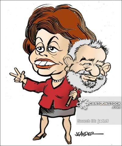 Image result for dilma rousseff cartoon