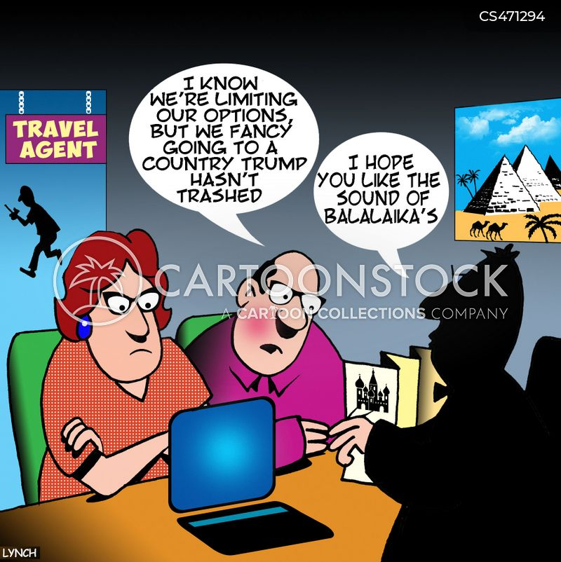 Travel Agent News and Political Cartoons