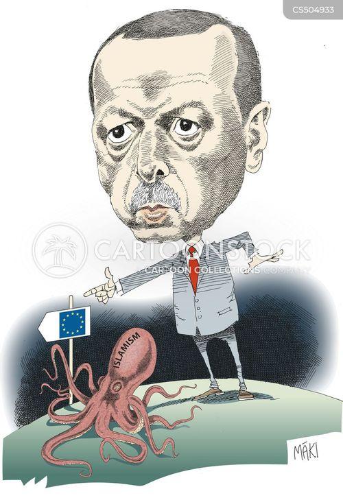 Recep Tayyip Erdogan News and Political Cartoons