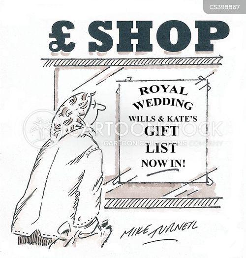 Kate Middleton Wedding Gift List : British Royal Family cartoons, British Royal Family cartoon, funny ...