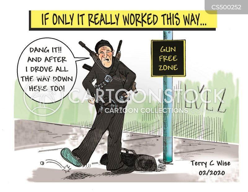 Gun-free Zone cartoons, Gun-free Zone cartoon, funny, Gun-free Zone picture, Gun-free Zone pictures, Gun-free Zone image, Gun-free Zone images, Gun-free Zone illustration, Gun-free Zone illustrations