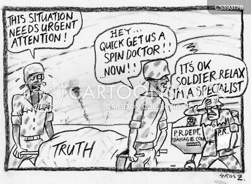 Pr News and Political Cartoons
