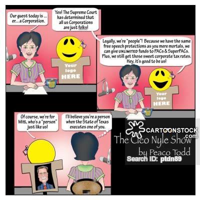 Free speech in practice, cartoon