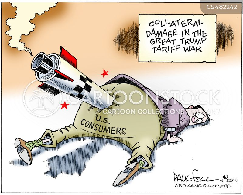Tariff War News and Political Cartoons