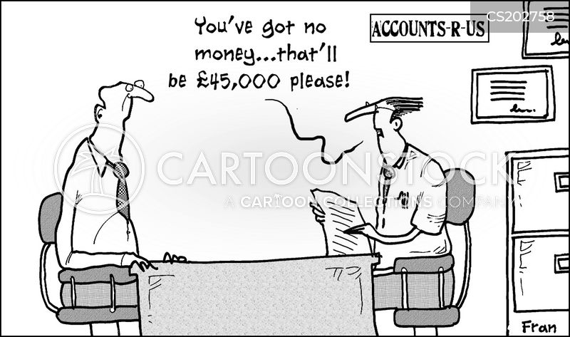 family finance cartoon