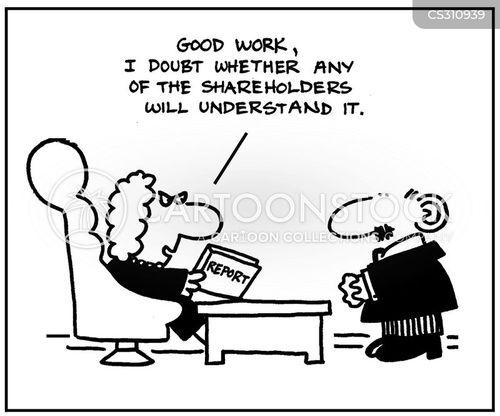 share-holders cartoon