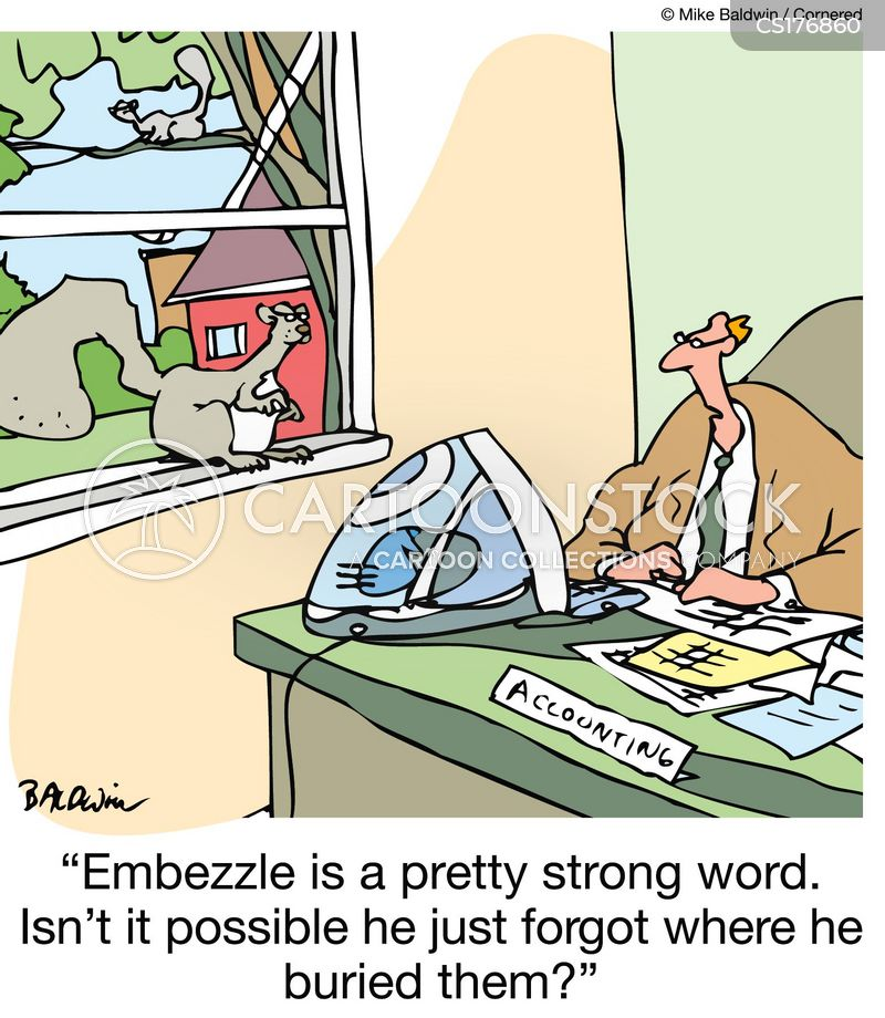 embezzled cartoon