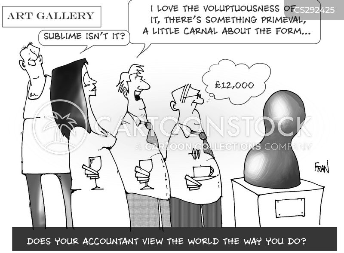 buying art cartoon
