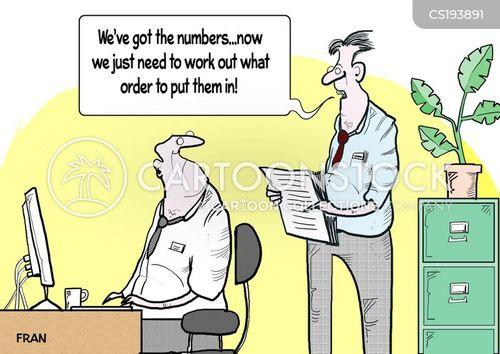 number cruncher cartoon
