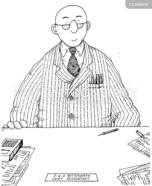 chief accountant cartoon