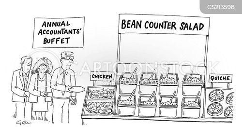bean counter cartoon