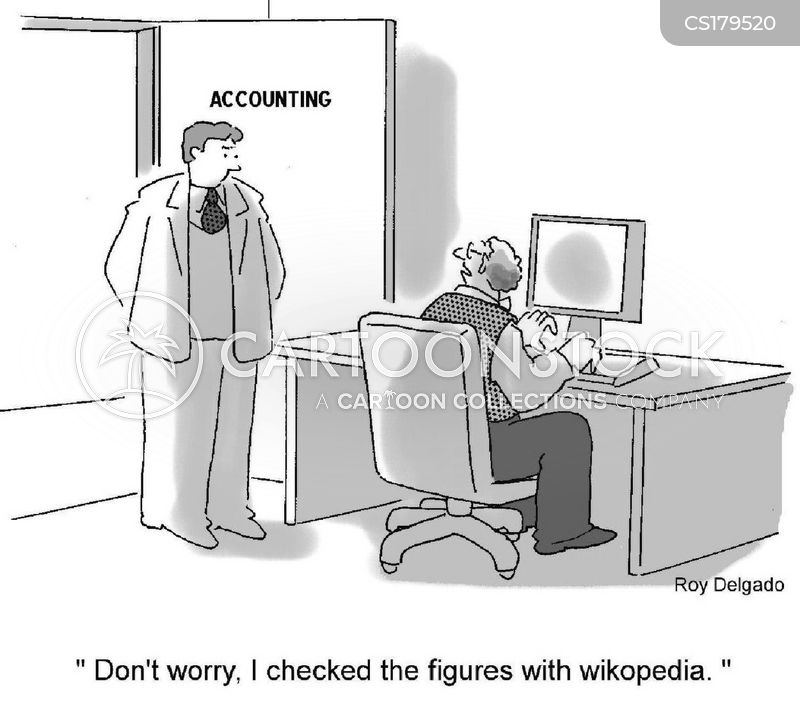 wikipedia cartoon