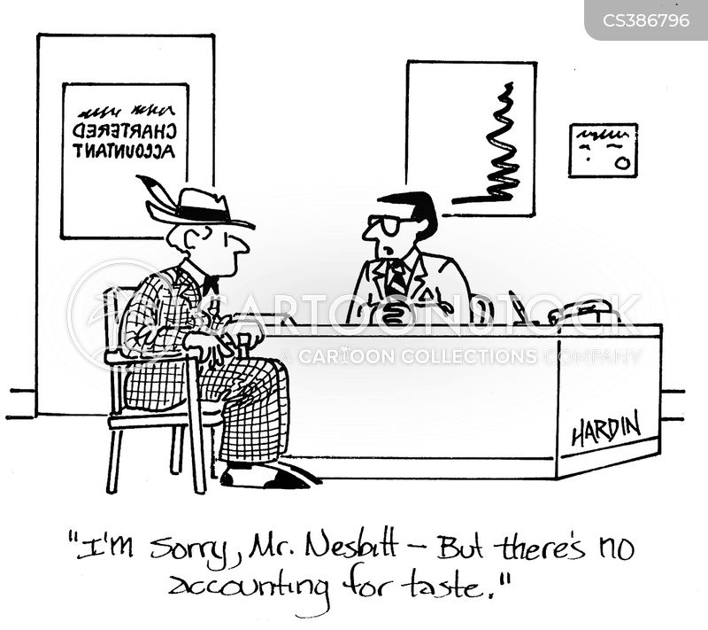 no accounting for taste cartoon