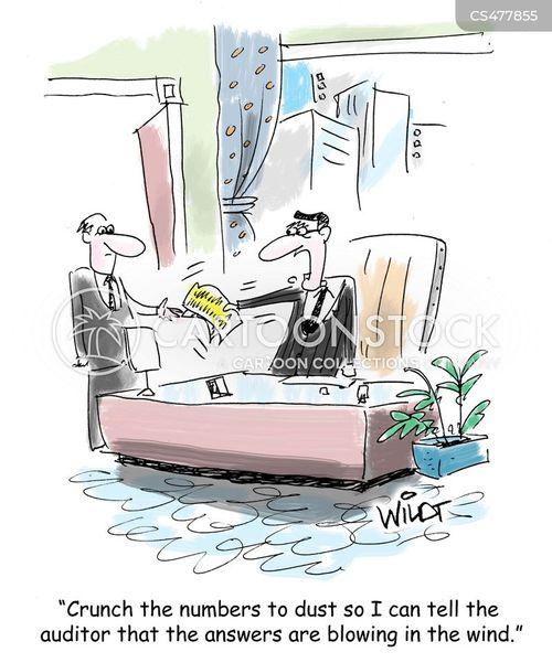 financial records cartoon