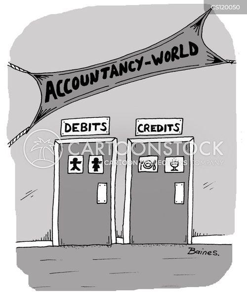 debit cartoon