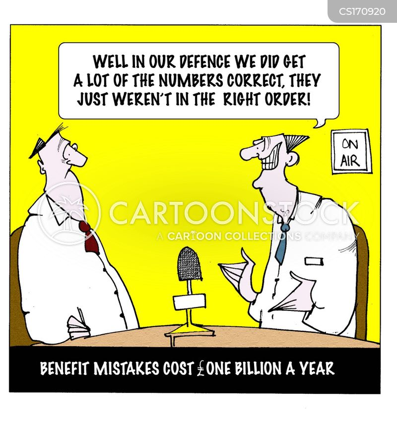 benefit mistake cartoon