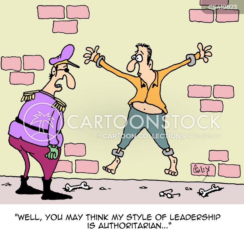 leadership style cartoon