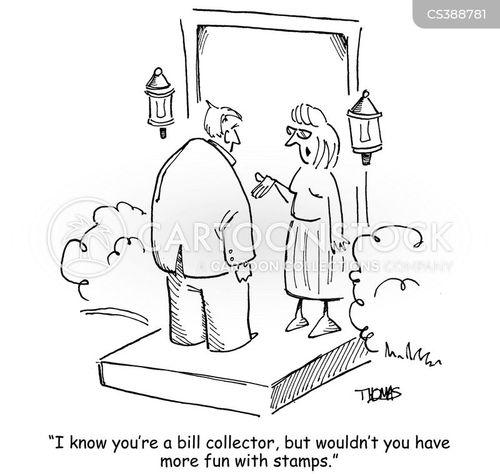 bill collector cartoon