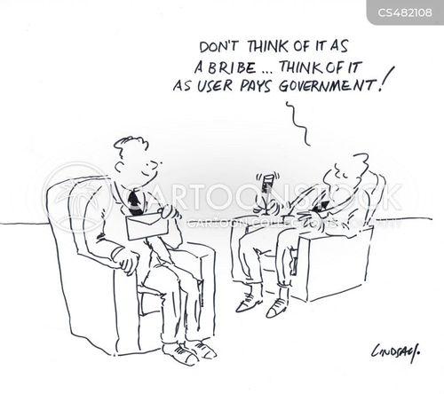 government corruption cartoon
