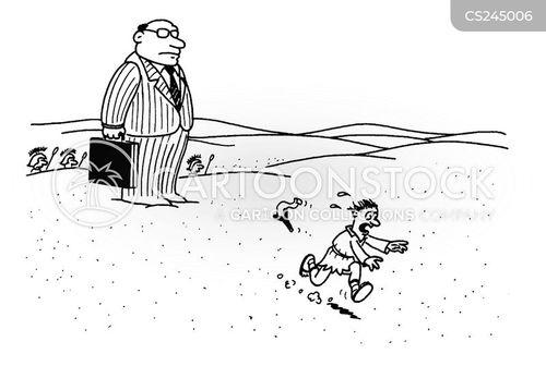 debt collector cartoon