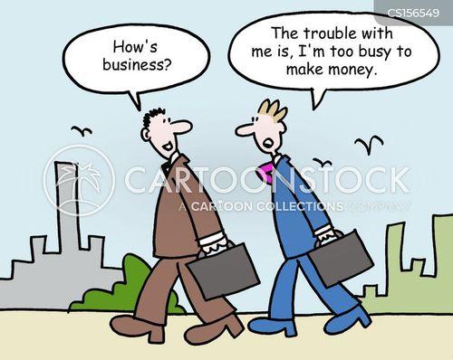 busy schedule cartoon