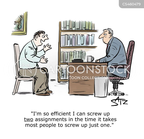 screw up cartoon